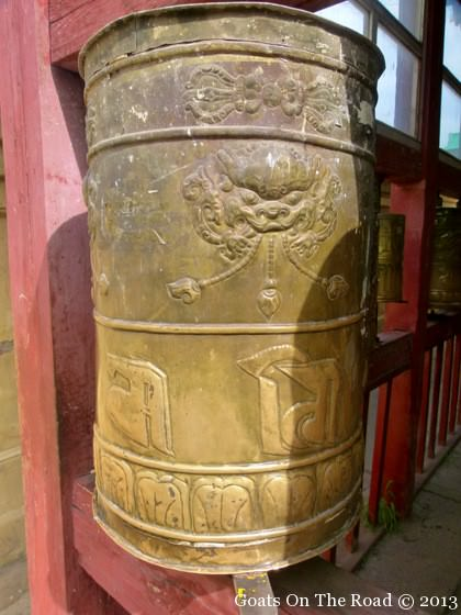 prayer wheel monastery