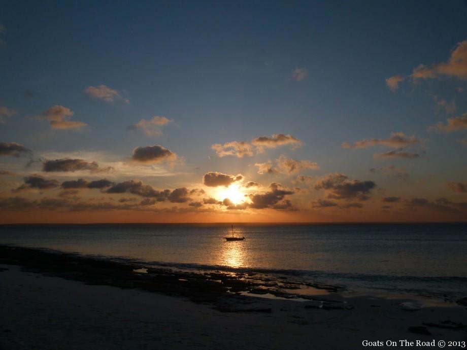 sunset mozambique