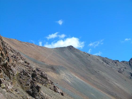 Trekking ala-kol altyn arashan That Faint Line On The Rocky Mountain Side Is The Pass!