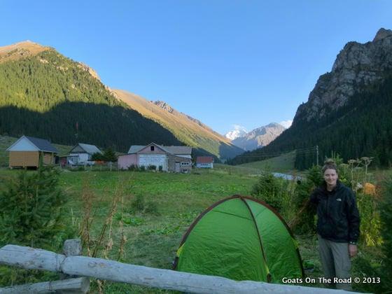Our Campsite Altyn Arashan hike
