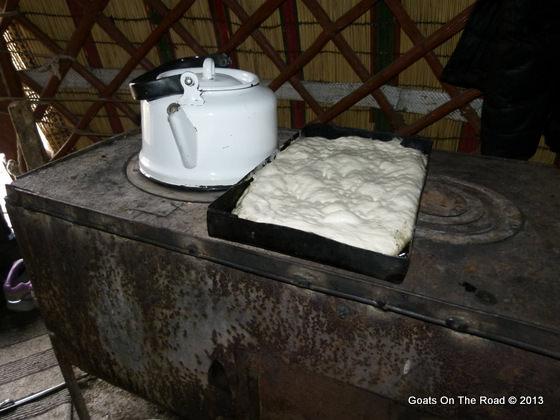 food in yurt