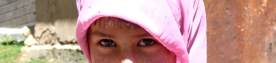 Eyes Of A Young Muslim Girl Arslanbab Kyrgyzstan