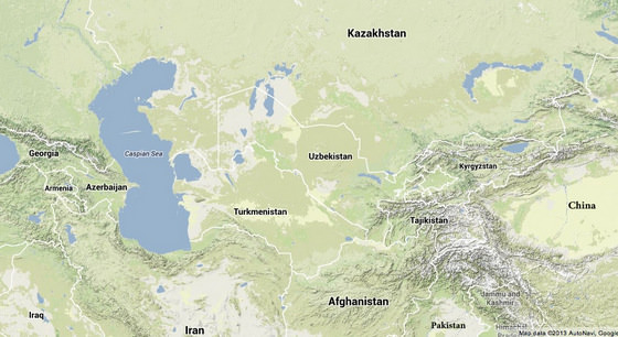 Present Day Central Asia