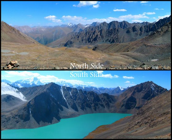 Both Sides Of The Ala-kol Pass