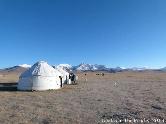 Yurts At Song-Kol