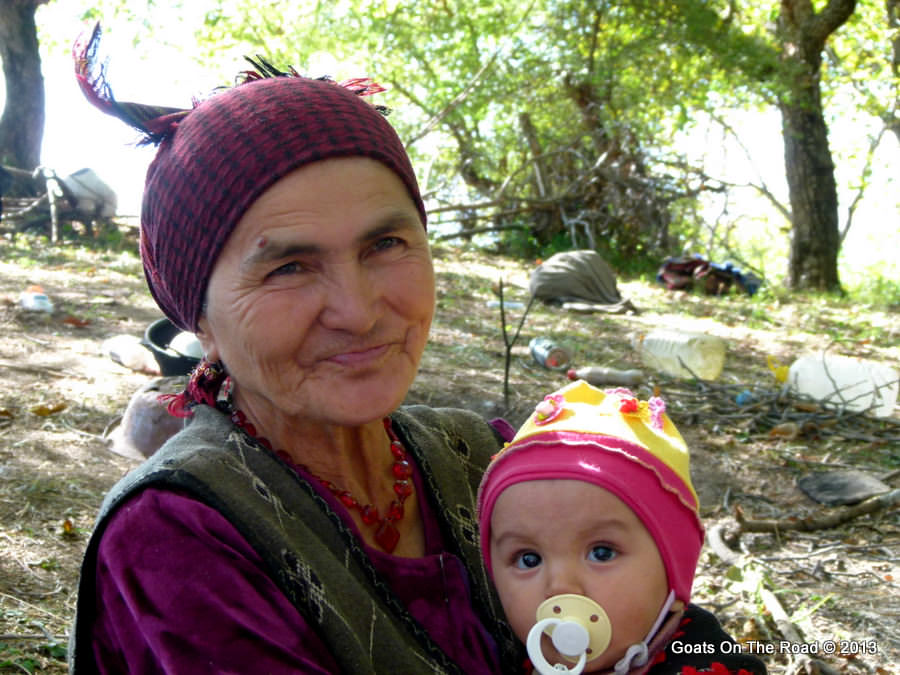grandmother and child kyrgyzstan