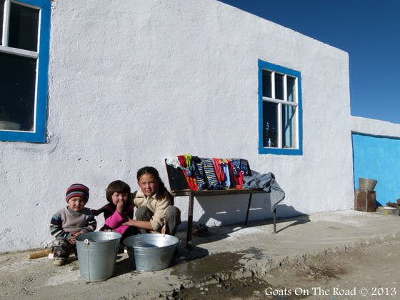 Families Keeping Stuff Clean In The Homestay Central Asia