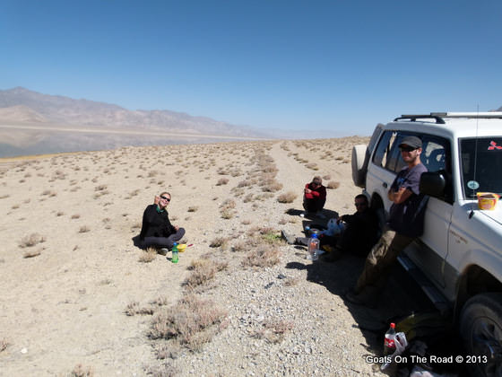 lunch on pamir highway