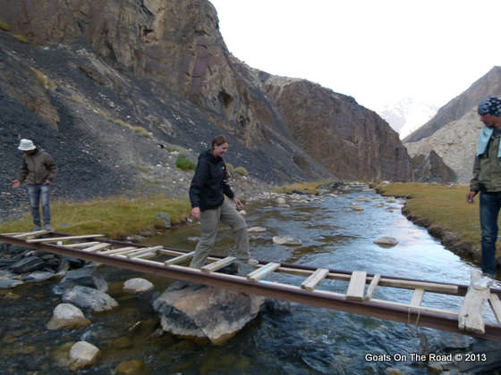 makeshift bridge pamirs