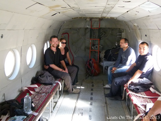 Inside Helicopter Pamir Mountains