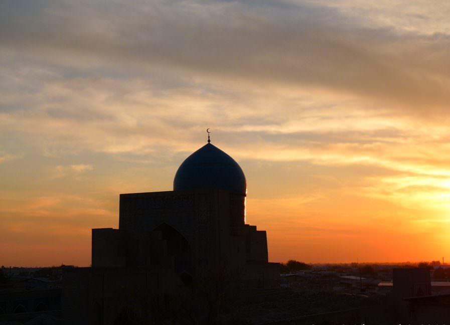 uzbekistan sunset inspiration