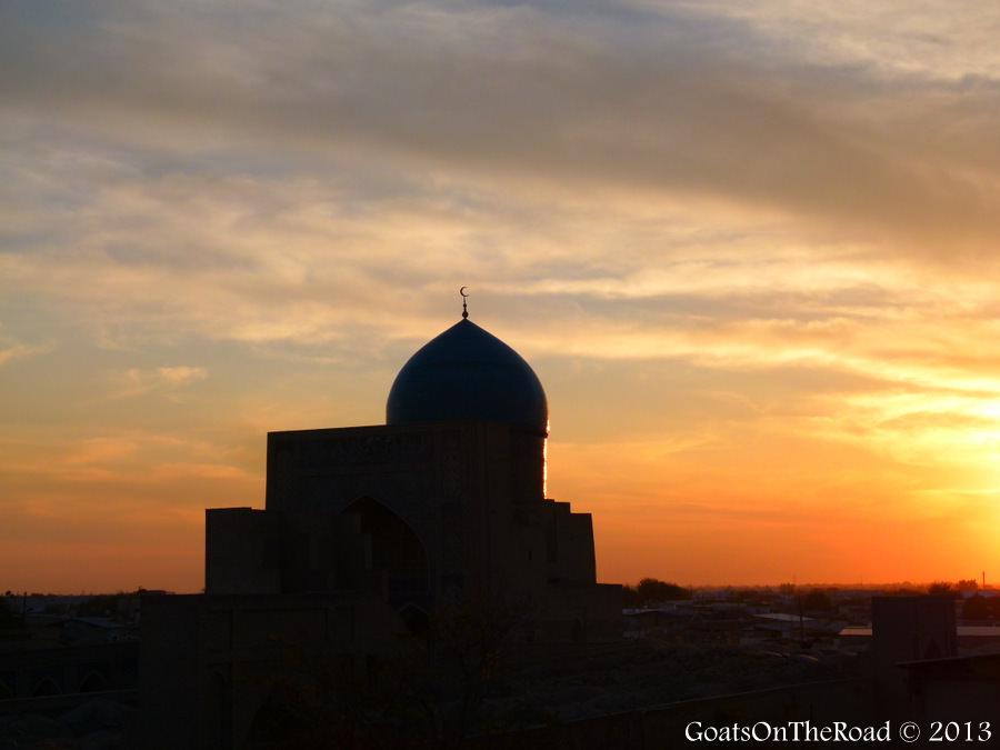 uzbekistan sunset
