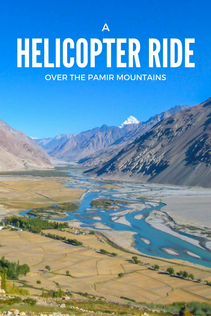 A Helicopter Ride Over The Pamir Mountains
