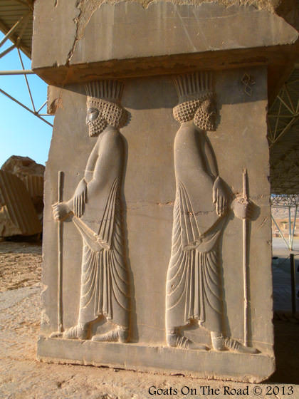 Detailed Carvings Of Persepolis