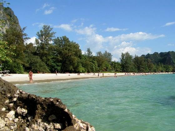 http://commons.wikimedia.org/wiki/File%3ARailay_Beach.jpg