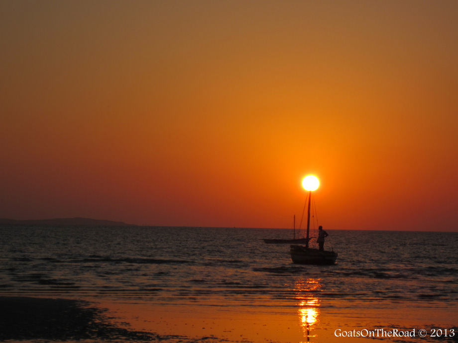 sunset in vilankulos mozambique
