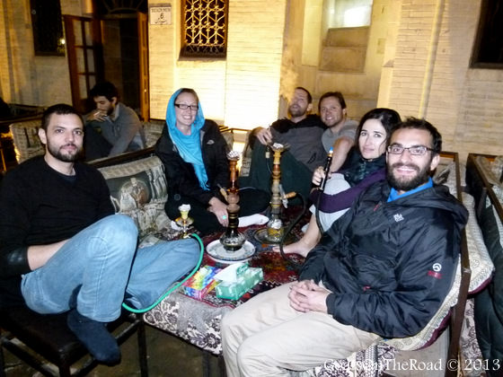 backpackers in shiraz
