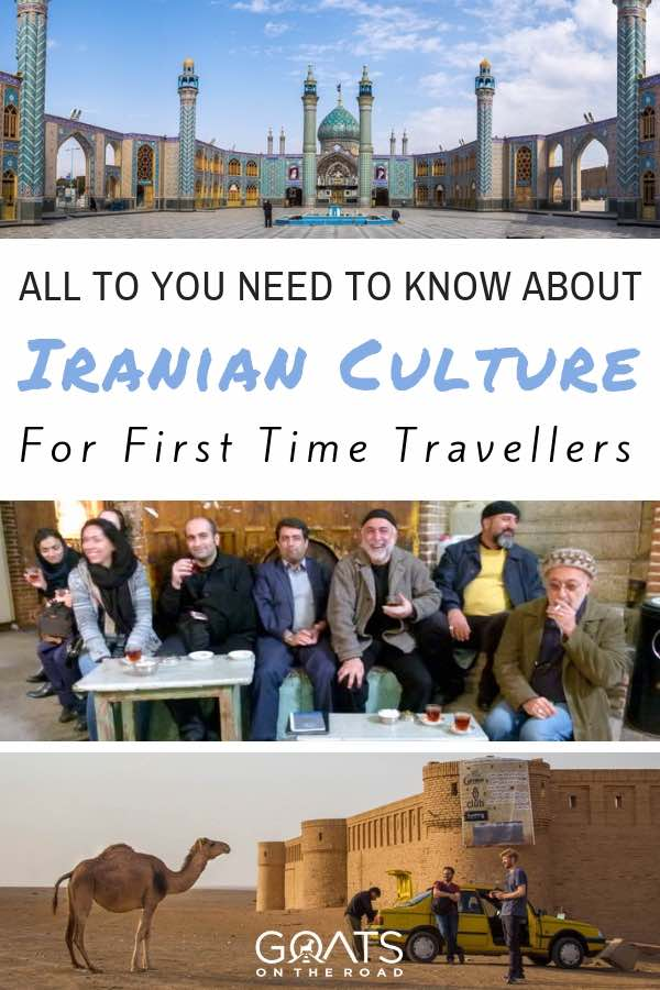 Iranian people with text overlay All You Need To Know About Iranian Culture
