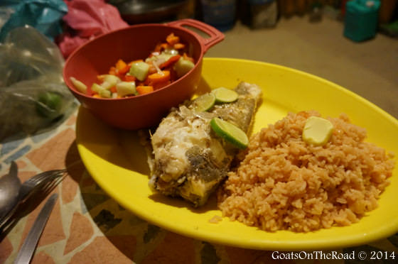 fish dinner in mexico