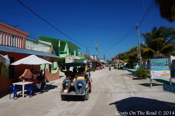Golf Carts On Holbox