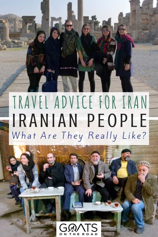 Iranian culture with text overlay Travel Advice For Iran