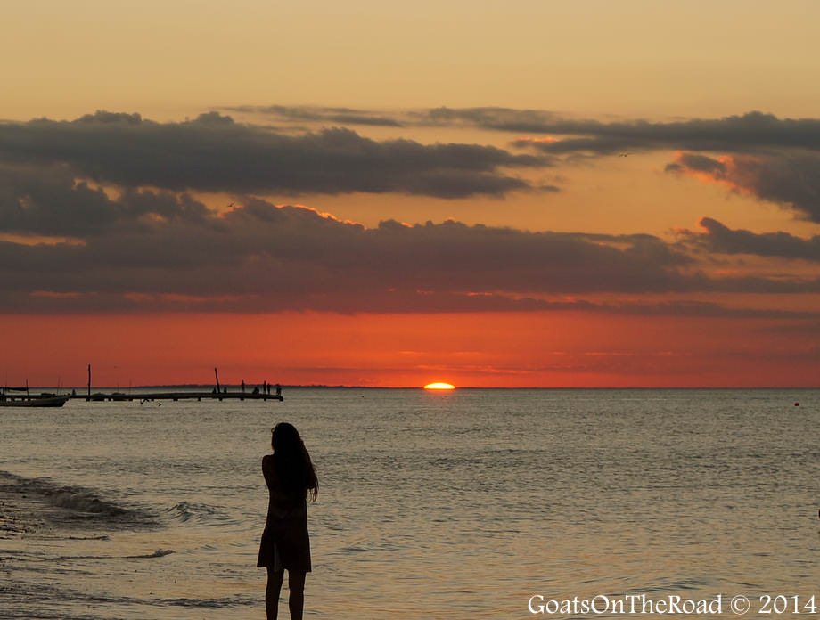 sunset holbox island