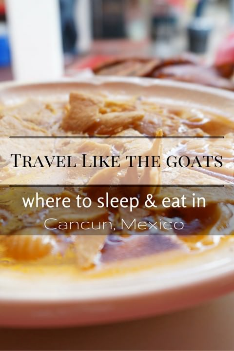 Travel Like The Goats- Where to Sleep & Eat in Cancun, Mexico