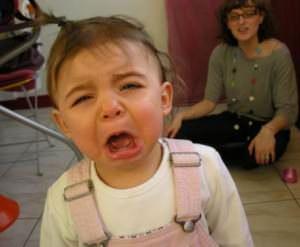 crying child au pair