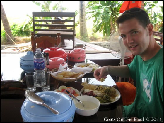 Delicious Food On Our Alleppey House Boat