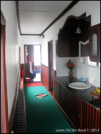 The Hallway In Our Alleppey House Boat