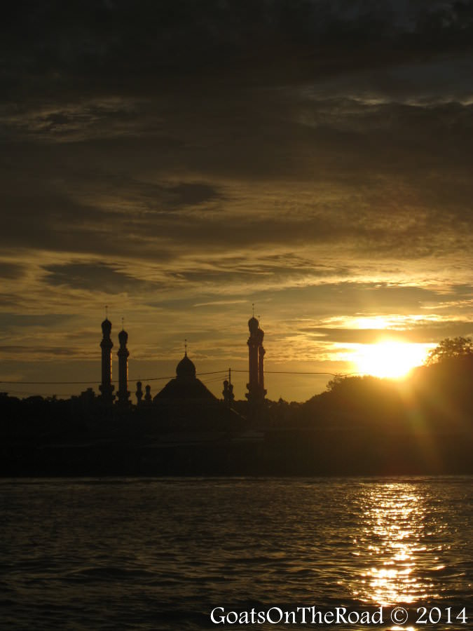 sunset in brunei