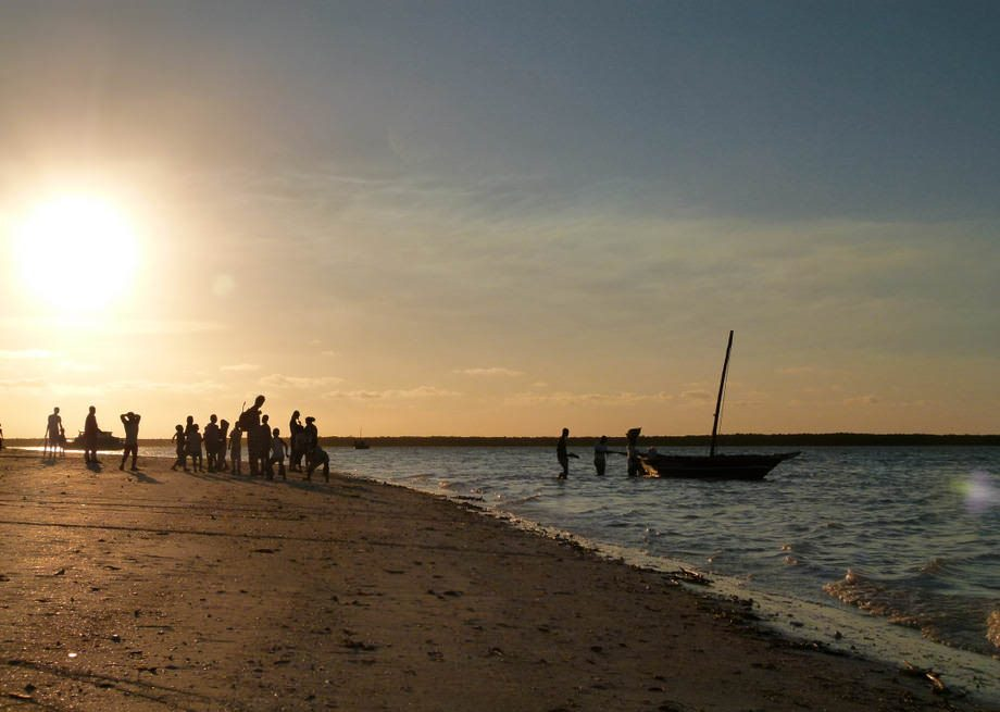 quirimba island mozambique sunset