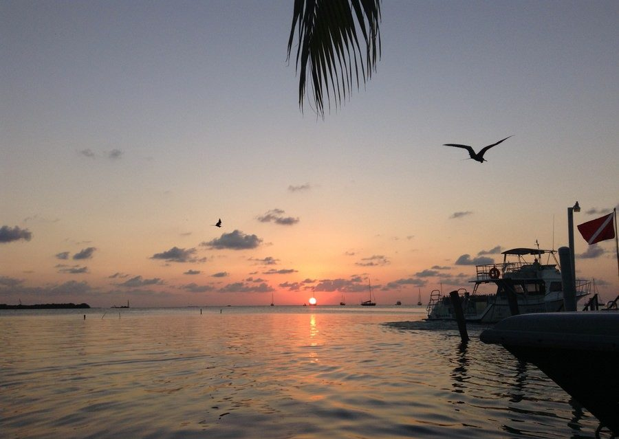 sunset belize