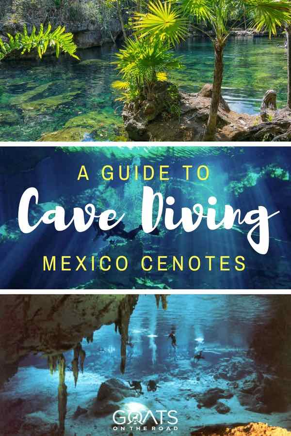 Mexico Cenotes with text overlay A Guide To Cave Diving