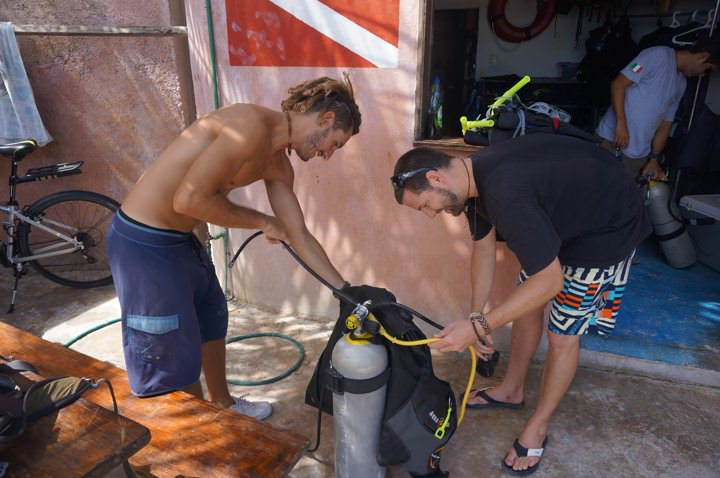 Preparing For My Refresher Dive Tulum