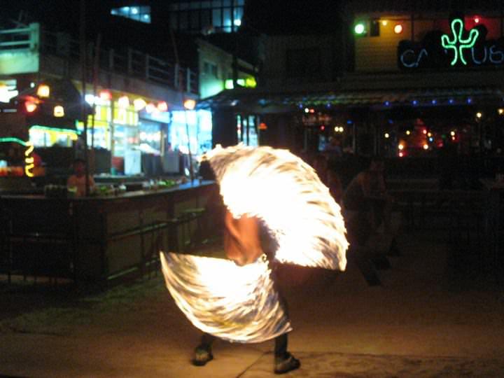 fire twirler Thailand