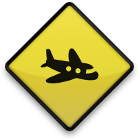 Plane Road Sign