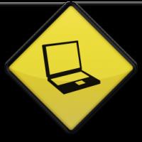 Laptop Road Sign