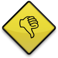 Thumbs Down Roadsign