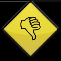 Thumbs Down Roadsign