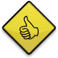 Thumbs Up Roadsign