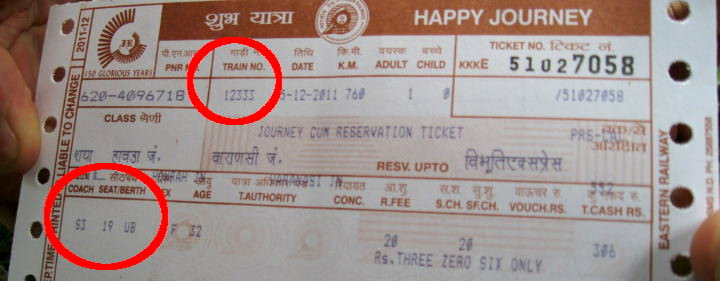 India Train Ticket