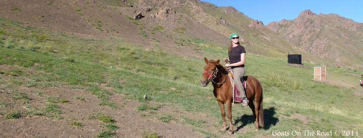 Horse Trekking In The Gobi while traveling Mongolia