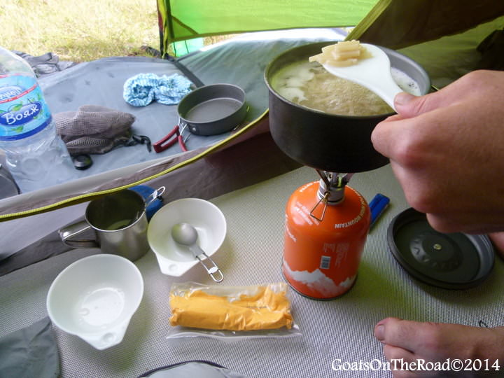 cooking gear trekking in mongolia