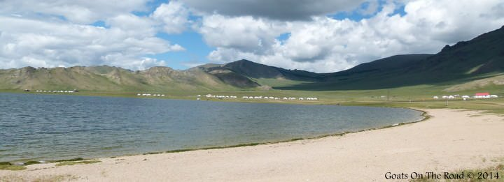 Tsagaan Nuur (White Lake) traveling Mongolia