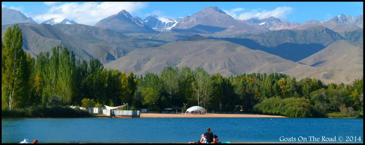 Backpacking Kyrgyzstan: Issyk Kul Lake As Seen From Cholpan-Ata Beach