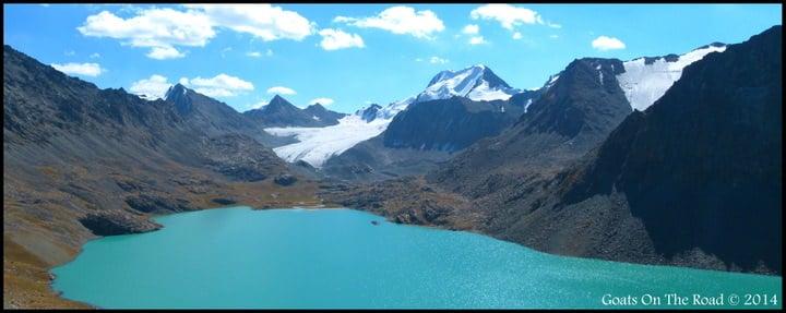 Backpacking Kyrgyzstan Trekking Beautiful Ala-Kul Lake (3,560 meters)