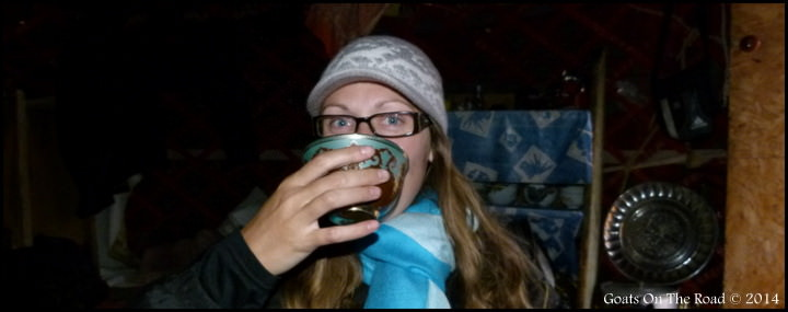 Drinking Kumis Backpacking Kyrgyzstan