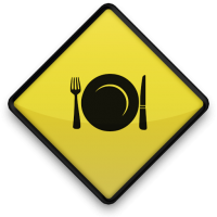 Plate Road Sign