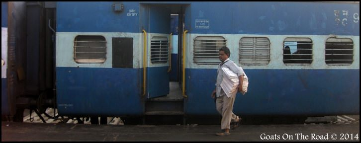 Man Near Indian Train